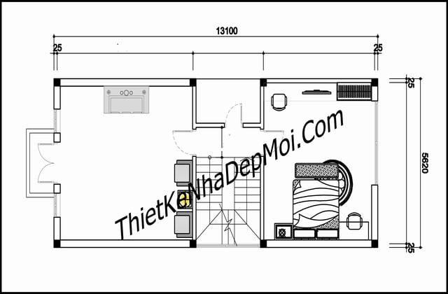 Thiết kế nhà mặt tiền 5.6m