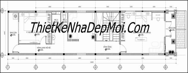 Tư vấn xây nhà 5x20 1 trệt 2 lầu đẹp bản vẽ