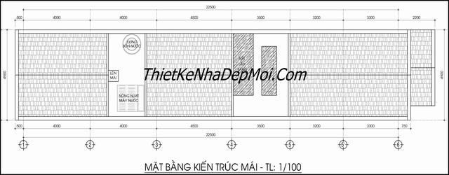Bản vẽ nhà 5x20 xây dựng