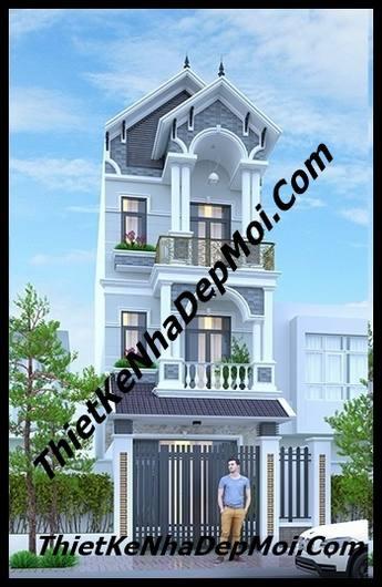Nhà phố 3 tầng mái thái 5x20