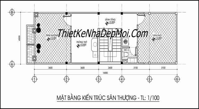 san thuong mau nha ong 4 tang kieu phap dep nhat 2017
