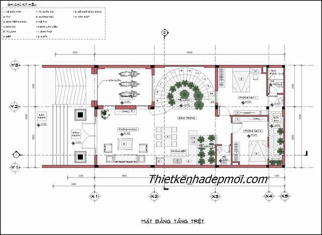 bản vẽ thiết kế nhà 10x20m