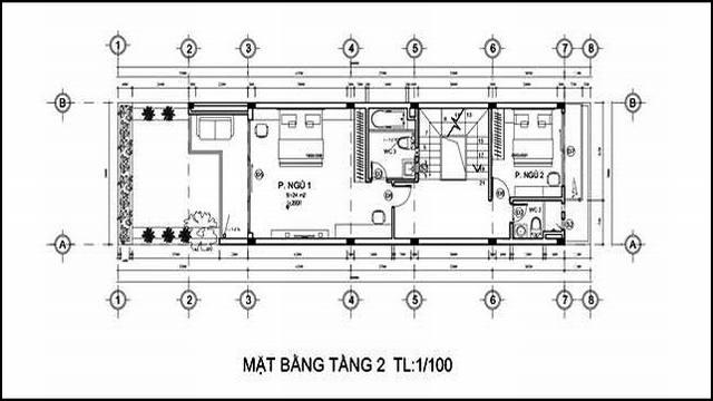 mat bang tang lau 2 nha dep 4,5m 3 tang 2017