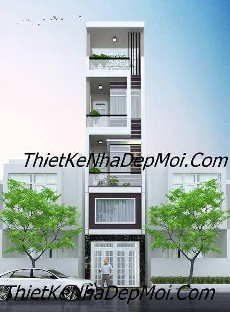 nhà mặt tiền 3.5m 4 tầng