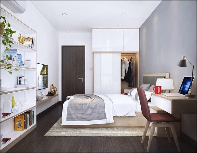 Phòng ngủ hiện đại 19m2