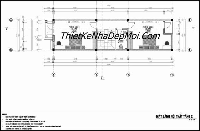 Tư vấn xây nhà ống 3 tầng 4.5m