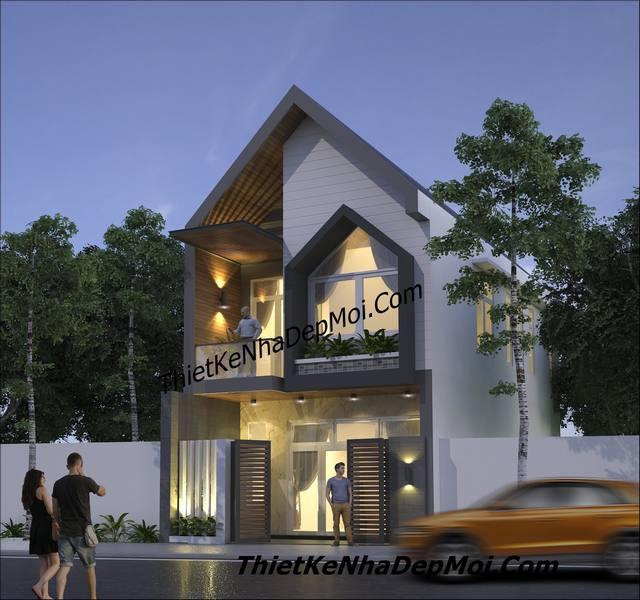 Thiết kế nhà ống 2 tầng mặt tiền 6m đẹp 2022