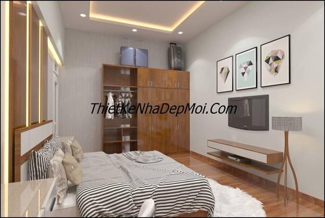 Phòng ngủ nhà ở hình chữ L