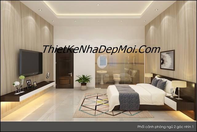 thiết kế nội thất nhà đẹp 5m chị Bình