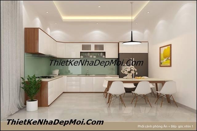 Thiết kế nhà bếp 14m2