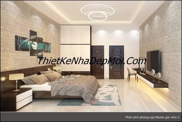 phòng ngủ master đơn giản