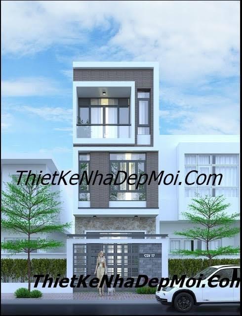 thiết kế nhà 3 tầng mặt phố 5m Vũng Tàu
