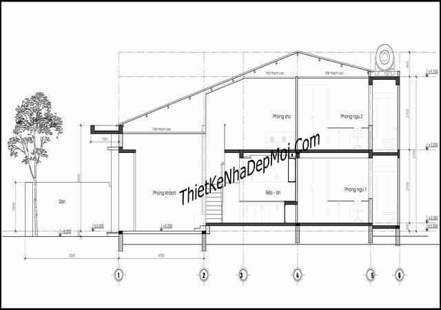 Bản thiết kế nhà gác lửng 5x15m