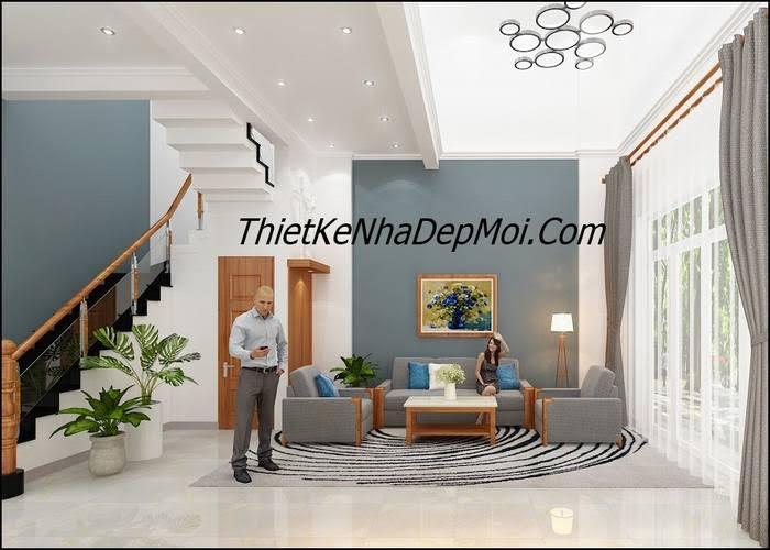 Cách trang trí phòng khách nhà phố 6m