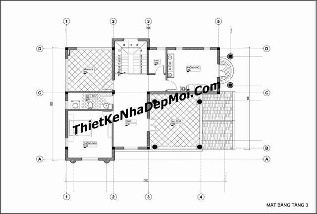 Thiết kế nhà ngang 15m mặt phố 3 tầng