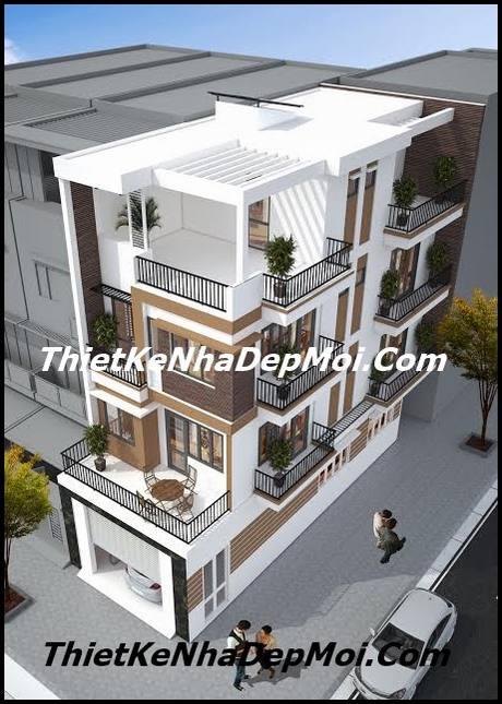 Mẫu nhà 5.6m 3.5 tầng 2 mặt tiền
