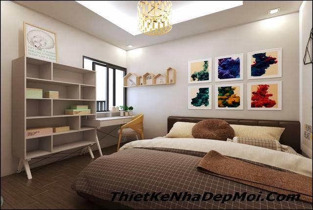phòng ngủ chung cư nhỏ xinh