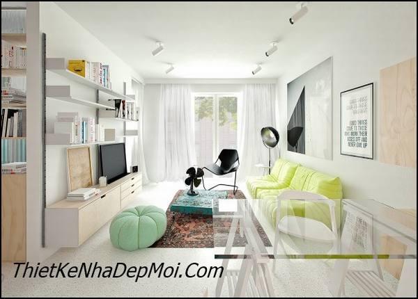 Cách trang trí nội thất căn hộ hiện đại giá rẻ
