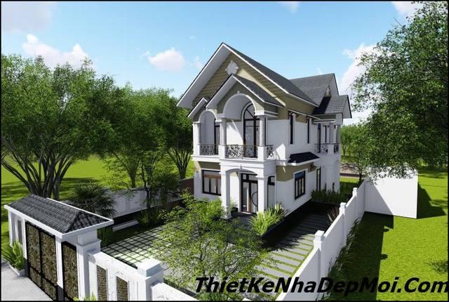 nhà mái thái đẹp 2 tầng ở Biên Hòa
