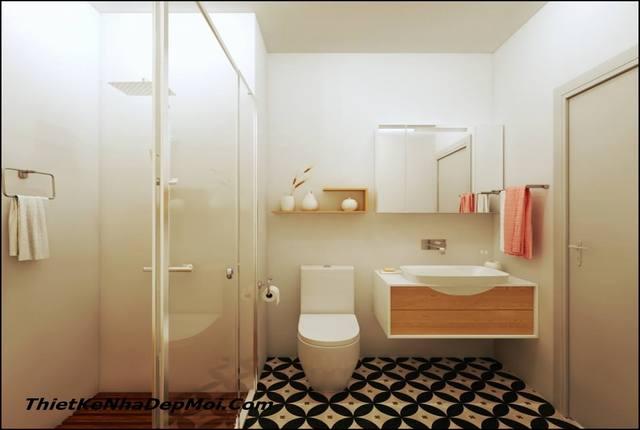 phòng vệ sinh căn hộ chung cư nhỏ
