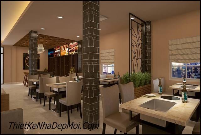 nội thất nhà hàng Nhật Bản
