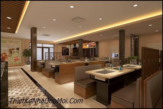 thiết kế nội thất nhà hàng buffet