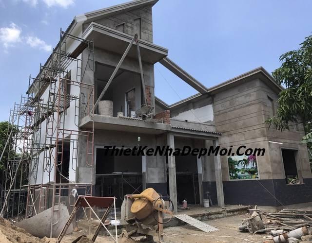 Hình ảnh thi công nhà 2 tầng ở Trảng Bom Đồng Nai