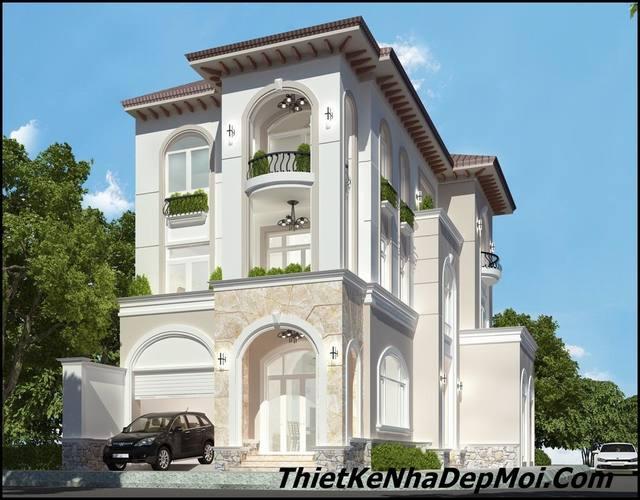 Biệt thự 3 tầng phong cách Vitorian