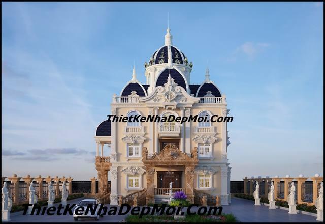 biệt thự lâu đài pháp cổ 4 tầng dinh thự