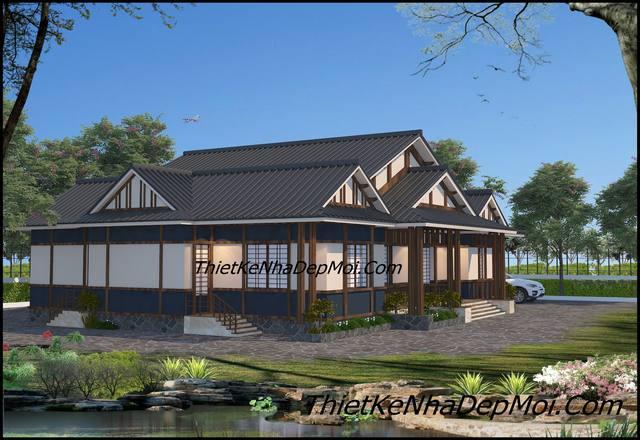 Bản vẽ kiến trúc nhà vườn Nhật Bản