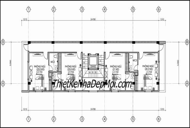 Mẫu thiết kế bản vẽ khách sạn mini hiện đại 9 tầng giá rẻ 2019