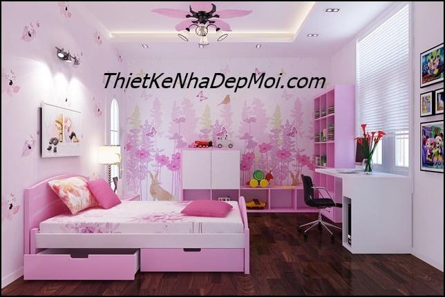 Trang trí phòng ngủ cho con gái