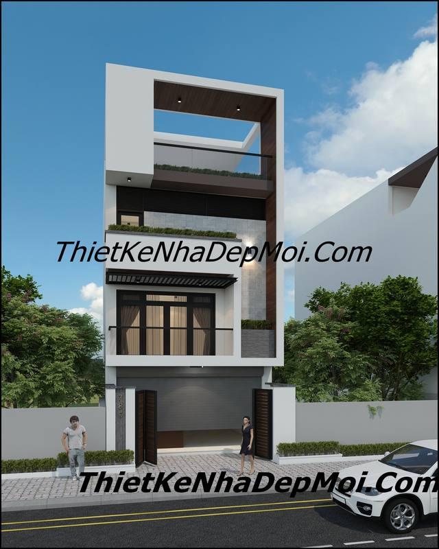 nhà 2 mặt tiền trước và sau 3 tầng 1 tum