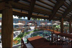 Thiết kế nhà hàng sân vườn 2020