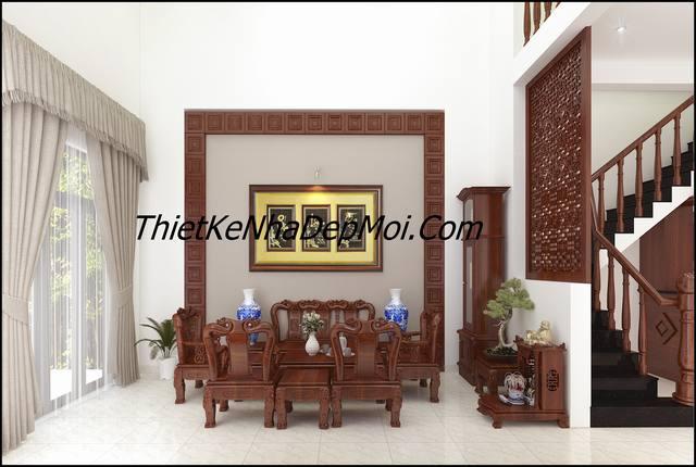 nội thất gỗ phòng khách 25m2