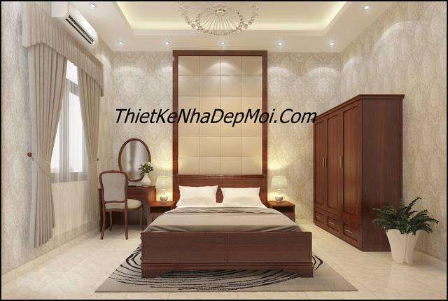 Mẫu nội thất phòng ngủ bằng đồ gỗ sang trọng anh Tuấn