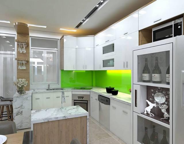Thiết kế thi công tủ bếp nhà ở Sài Gòn