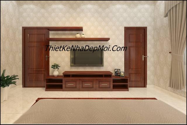 Hình ảnh thi công nội thất gỗ phòng ngủ