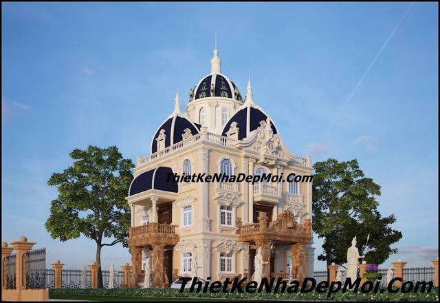 Thiết kế lâu đài cổ 3 tầng châu âu