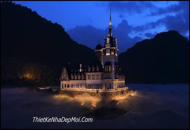Lâu đài cổ điển phong cách Partyzan Nga