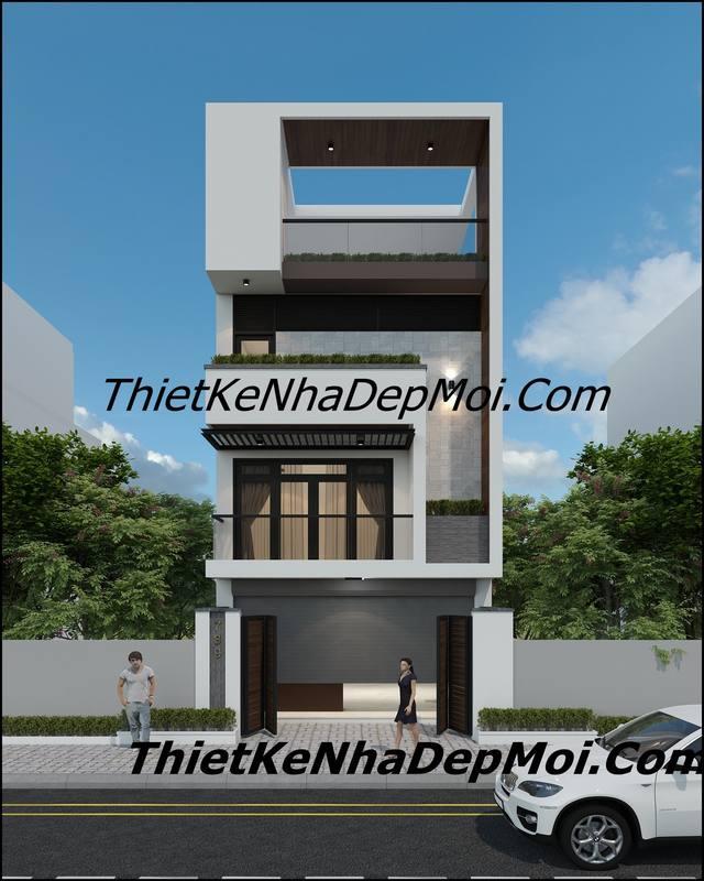 Thiết kế nhà 2 mặt tiền trước sau
