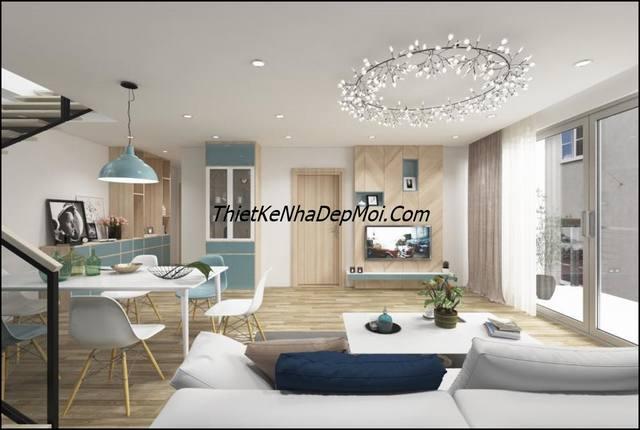 Cách trang trí phòng khách nhà cấp 4 có gác lửng hiện đại nội thất giá rẻ