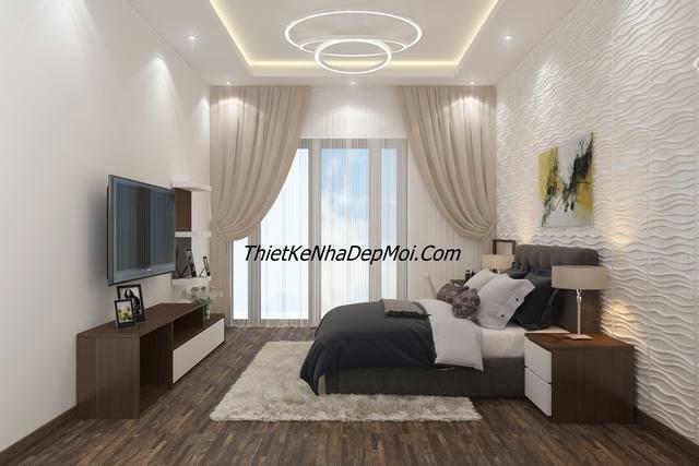 Phòng ngủ nội thất nhà rộng 4m