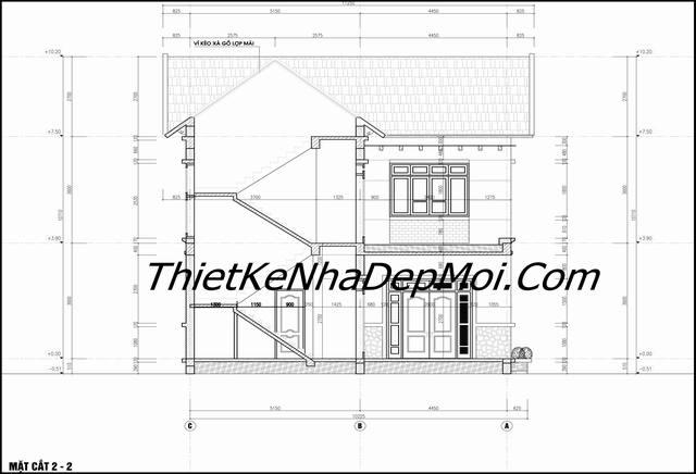 bản vẽ xây dựng nhà 2 tầng