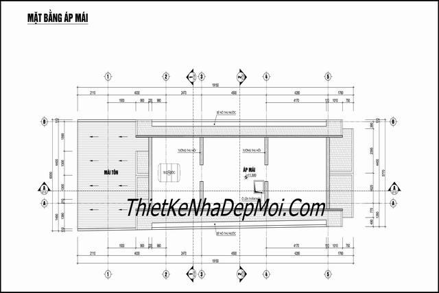 Bản vẽ xây nhà ngang 6m 3 tầng kinh doanh