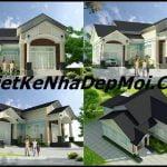 , Mẫu biệt thự mái thái đẹp chữ L Ngang anh Dũng Vỉnh Cửu, Công ty thiết kế xây dựng Nhà Đẹp Mới, Công ty thiết kế xây dựng Nhà Đẹp Mới
