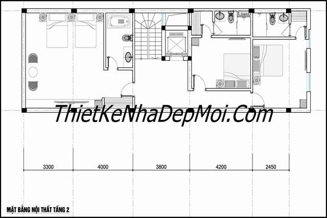 Tư vấn thiết kế nhà nghỉ 6x18