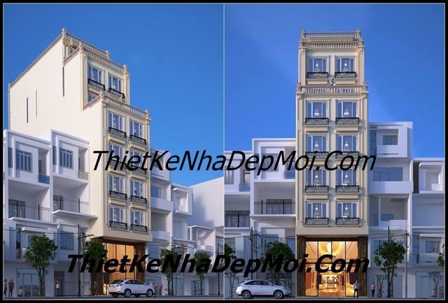 Mẫu thiết kế khách sạn tiêu chuẩn 3 sao 9 tầng rộng mặt tiền rộng 8m sâu 16m