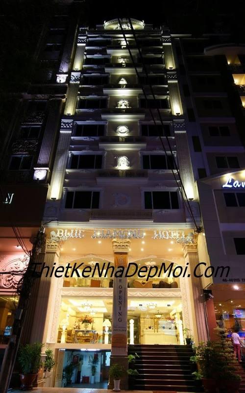 Thi công khách sạn 3 sao mini 10 tầng tại TPHCM