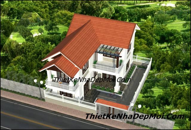 Hình ảnh bản vẽ xây dựng nhà 2 tầng mái thái